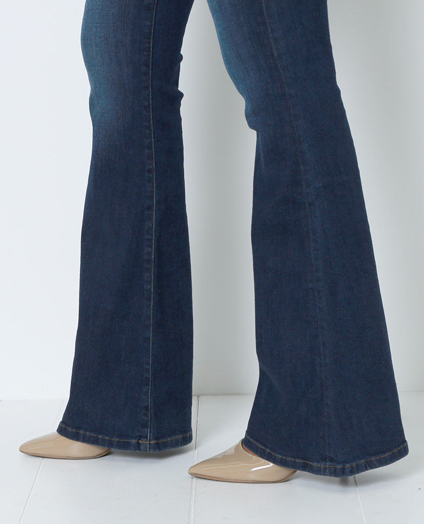 Style High Flare Denim Jeans - Blue