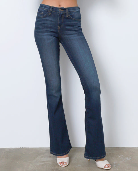 Style High Flare Denim Jeans - Blue - Piin | ShopPiin.com
