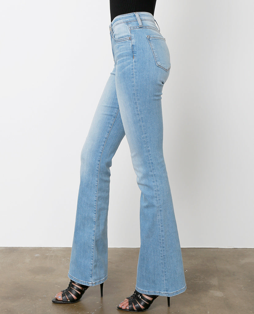 Style High Flare Denim Jeans - Light Blue - Piin | ShopPiin.com