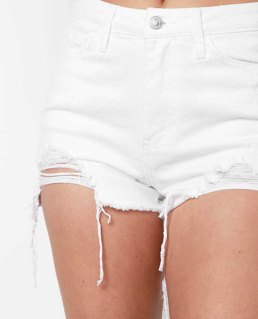 Wish Me Luck White Denim Shorts - Piin | ShopPiin.com