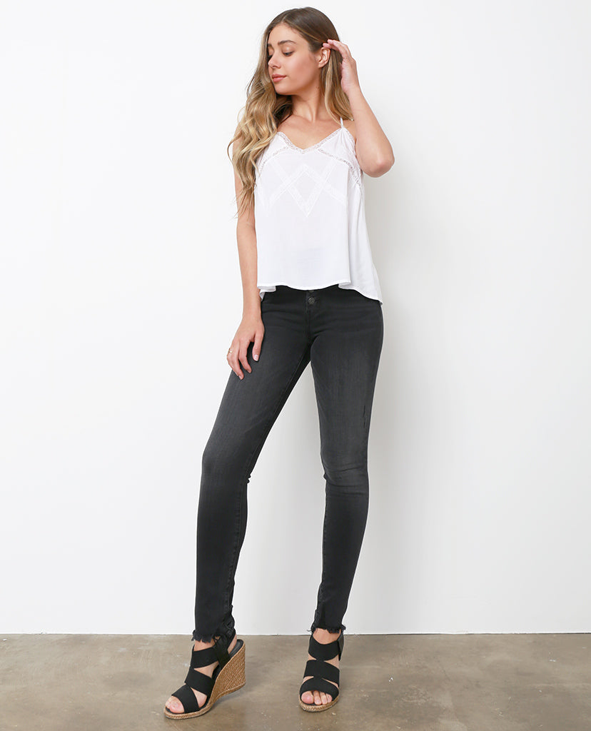 Spotlight On Dark Gray Skinny Jeans - Piin | ShopPiin.com