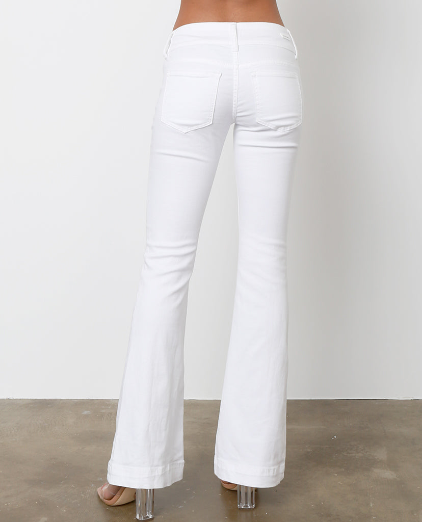 Ariana Wide Leg Jeans - White Denim - Piin | ShopPiin.com