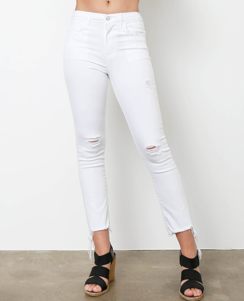 At-ease White Straight Jeans - Piin | ShopPiin.com
