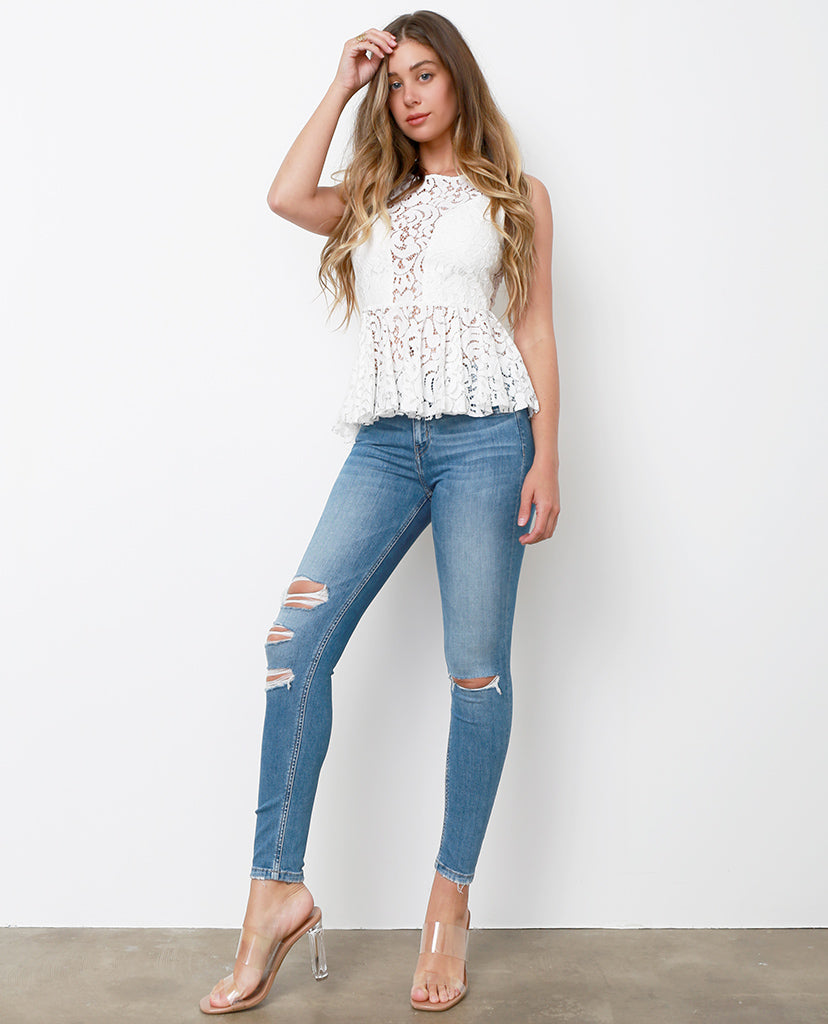 Simply Feels Skinny Jeans - Denim Blue - Piin | ShopPiin.com