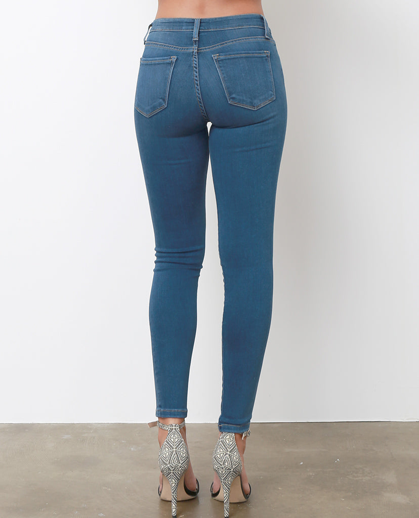 Never Too Late Skinny Jeans - Blue - Piin | ShopPiin.com