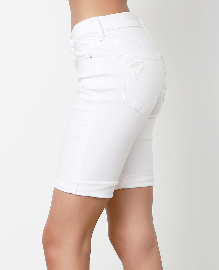 Shout Out White Denim Shorts - Piin | ShopPiin.com