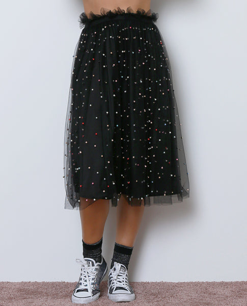 Unforgettable Memories Midi Skirt - Black - Piin | ShopPiin.com