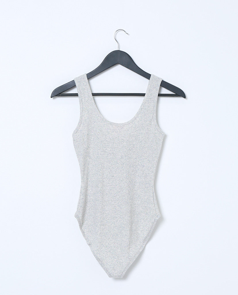 Taking Over Jersey Tank Bodysuit - Gray - Piin | ShopPiin.com