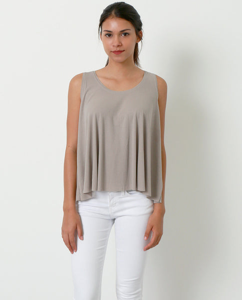 Daily Dose Sleeveless Top - Khaki - Piin | www.ShopPiin.com