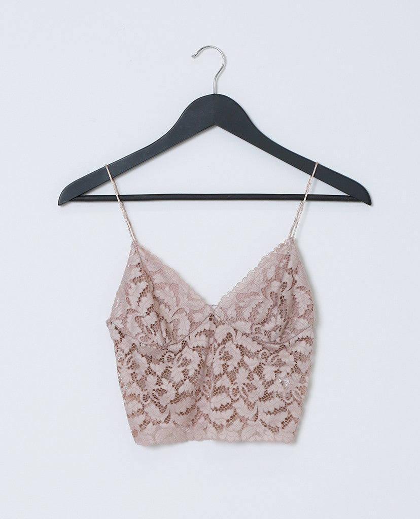 Out Of Touch Lace Bralette - Mauve