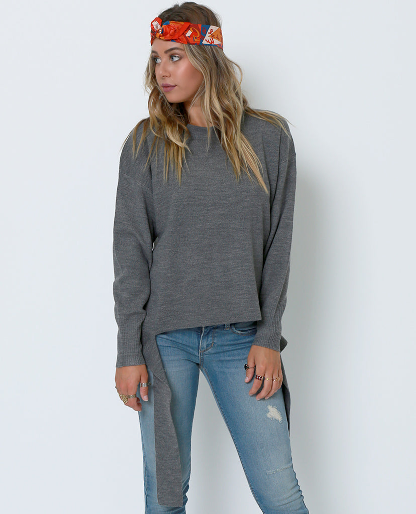 Peace Out Sweater - Gray - Piin | ShopPiin.com