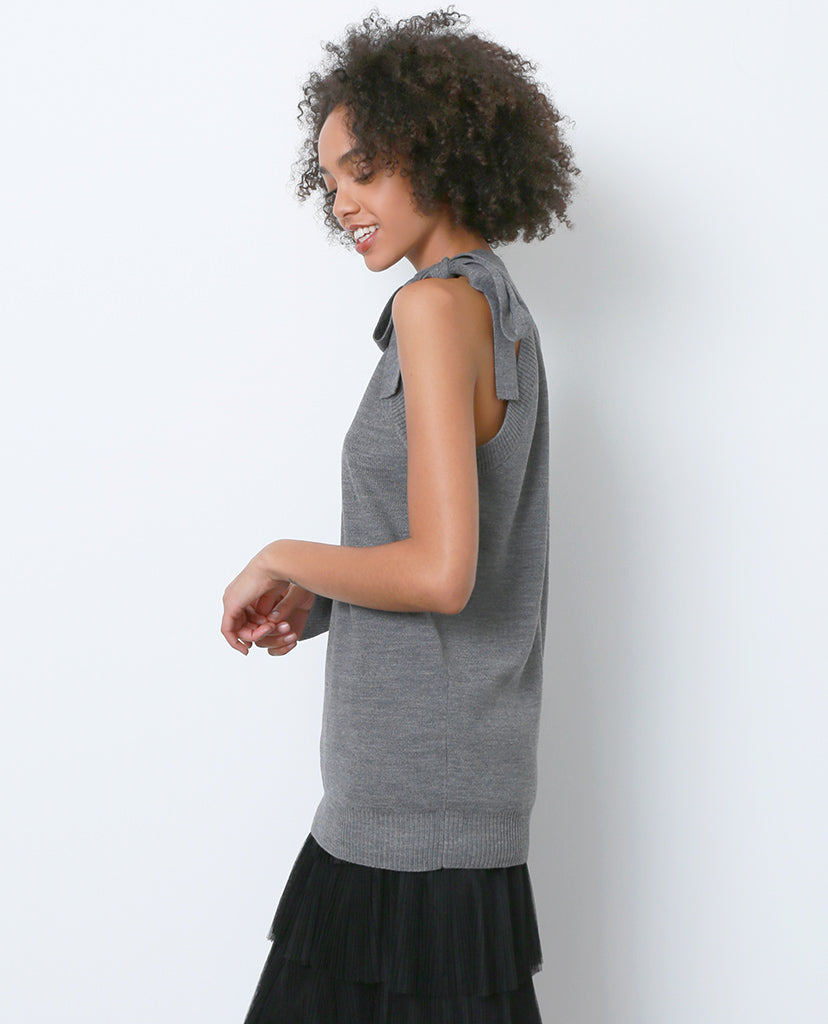 High Impact Off-shoulder Sweater - Gray - Piin | ShopPiin.com