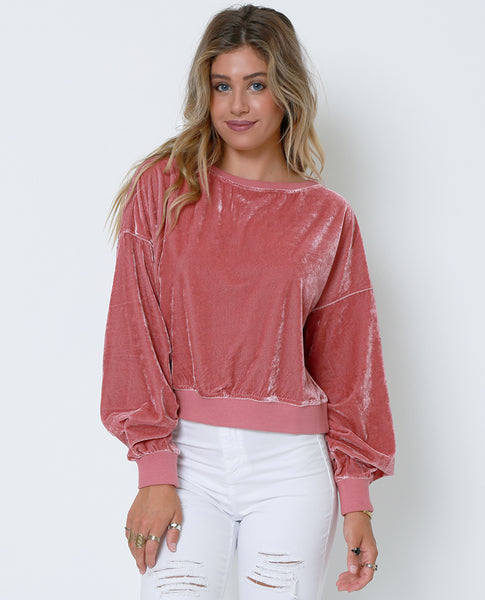 Staying True Sweatshirt - Pink - Piin | ShopPiin.com