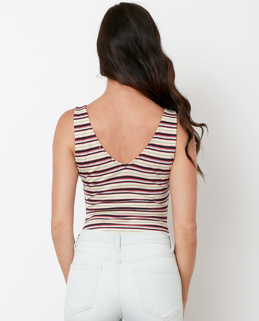 Friendly Reminder Bodysuit - Stripes - Piin | ShopPiin.com