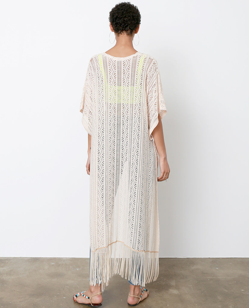Summer Of Love Lace Fringe Cardigan - Ivory - Piin | ShopPiin.com