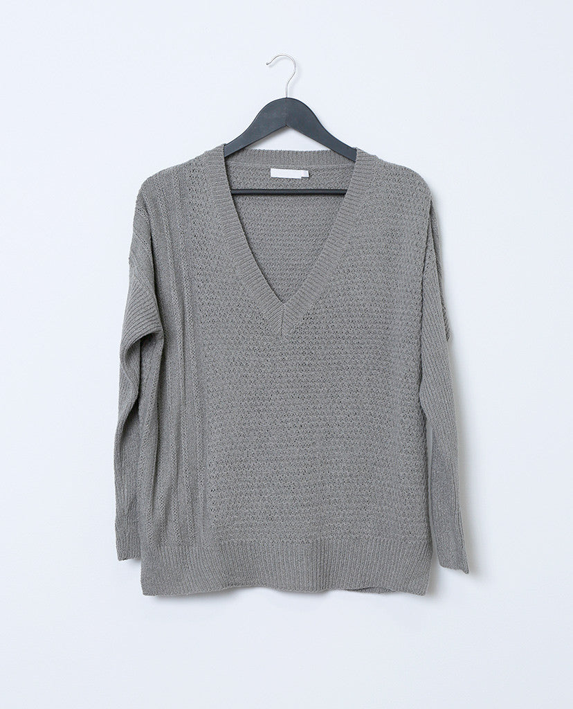 Always and Forever Sweater Top - Gray