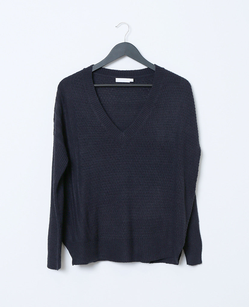 Always and Forever Sweater Top - Navy - Piin | ShopPiin.com