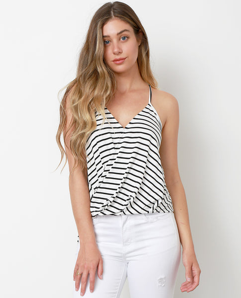 Hampton's Stripe Top - White/Black - Piin | ShopPiin.com