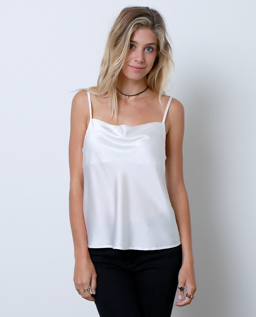 Talk To Me Tank Top - White - Piin | ShopPiin.com
