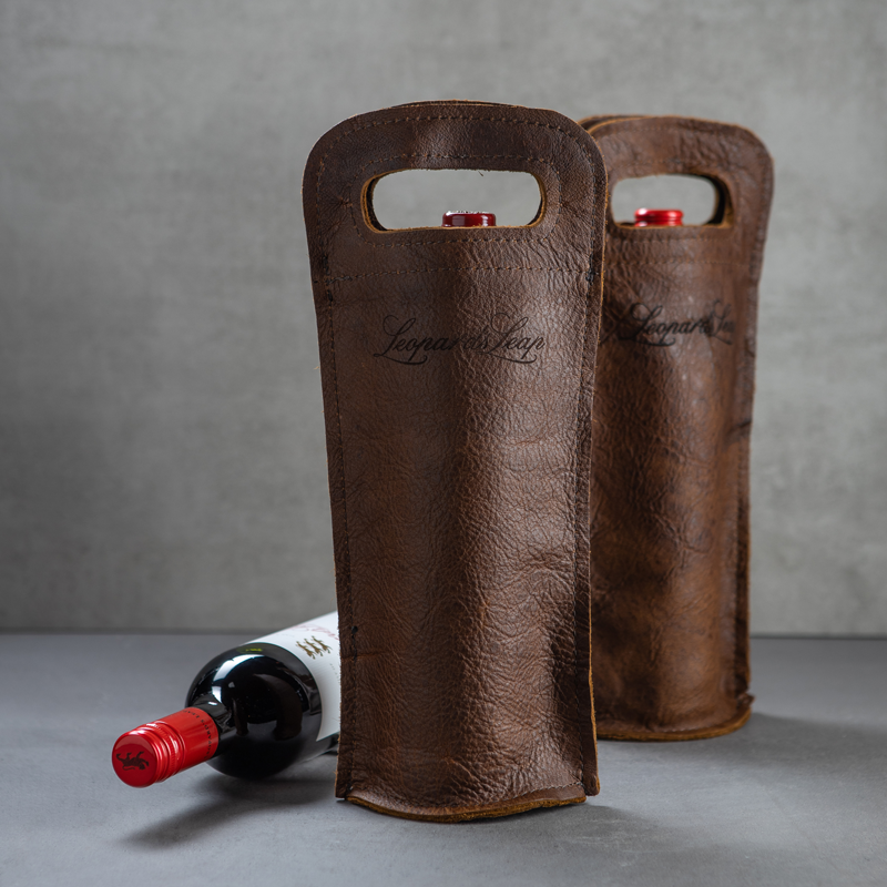 Leather Single Bottle Sleeve