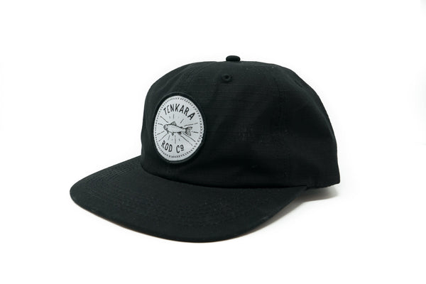 Tenkara Fish Badge Camp Hat - Black