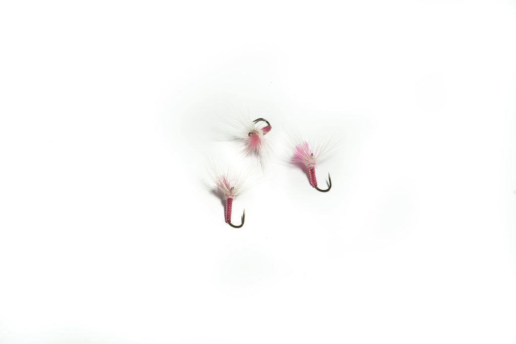 Pink and White Kebari - 3 Flies