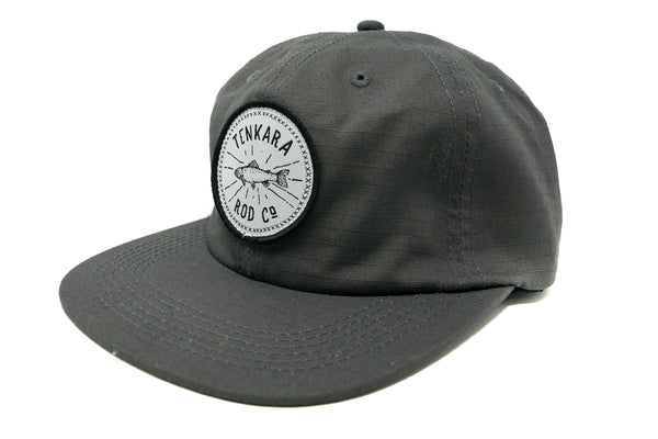 Tenkara Fish Badge Camp Hat - Charcoal