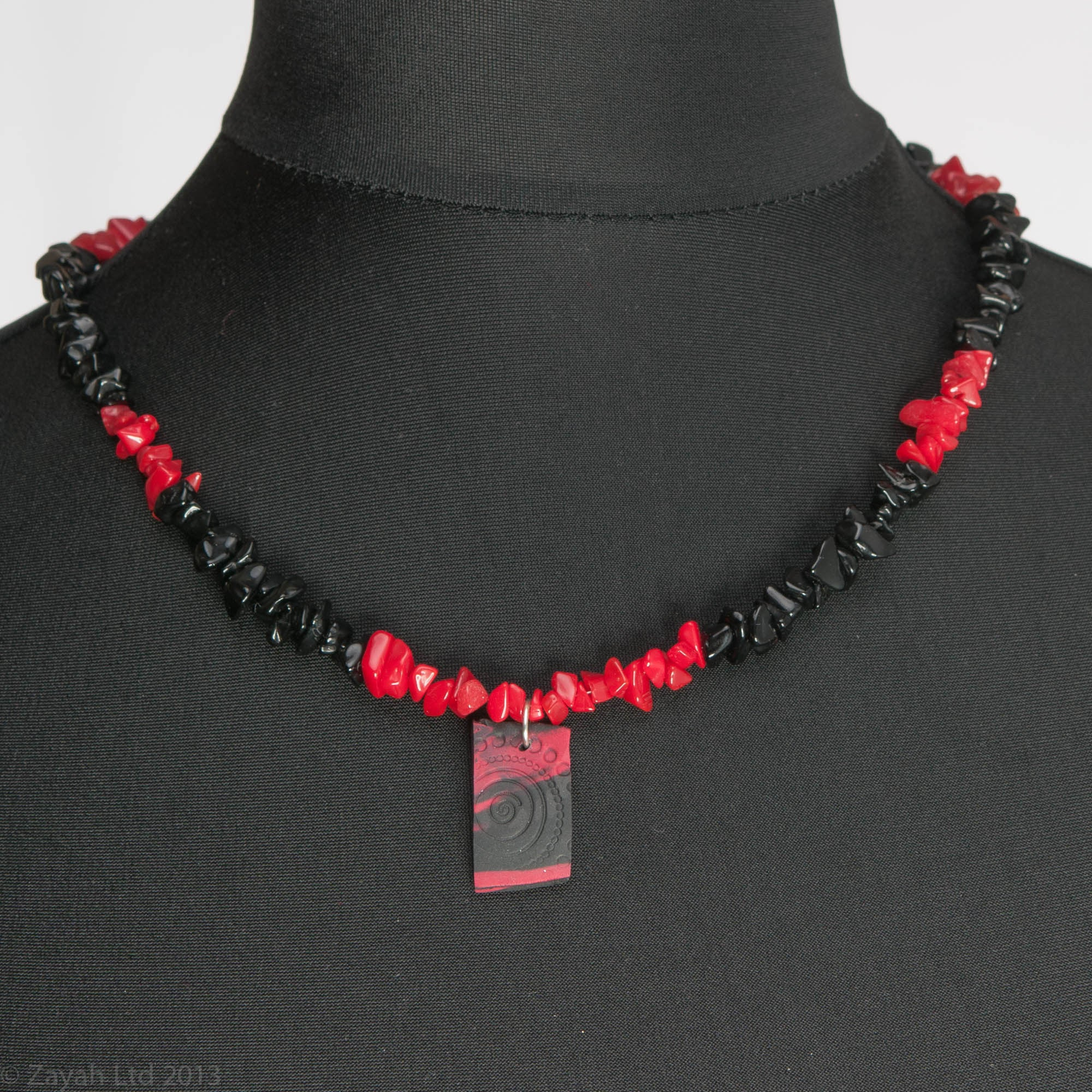 rickis crimson necklace wire rhodium multi stationed strand res hi bead set