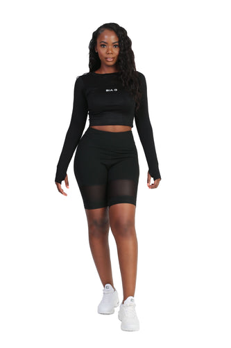 Blackout Mesh Crop