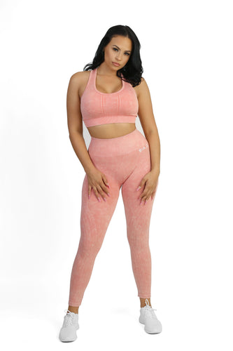 Stretch Coral Leggings