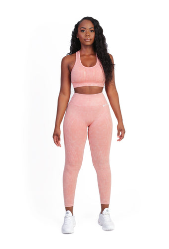 Stretch Coral Sports Bra