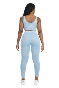 Stretch Ice Blue Sports Bra