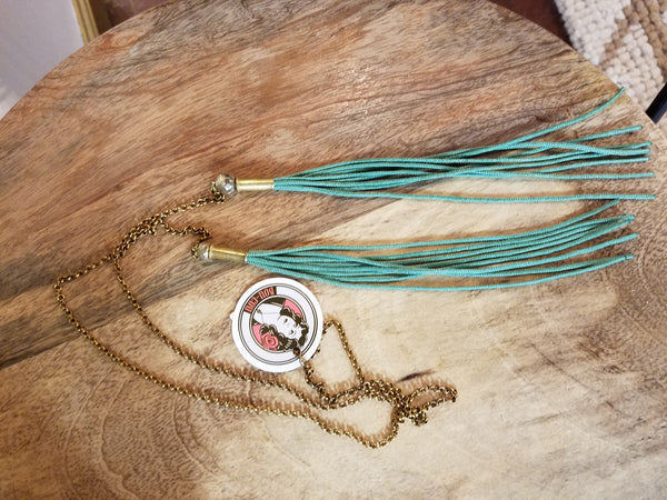 Sage Tassel Necklace