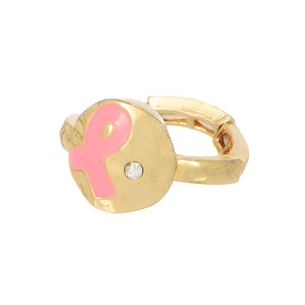 Pink Breast Cancer Stretch Ring