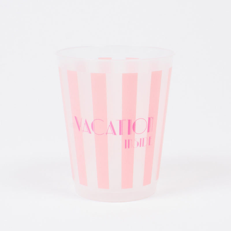 """Vacation Inside"" Reusable Cups"
