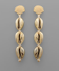 Cowry Shell Linear Earrings