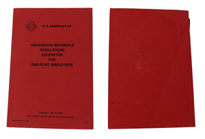 Bureau of Explosives 1977 Hazardous Materials Regulations for Railroad Employees w Sign IDs - Premier Estate Gallery