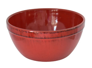 Vintage Farmhouse Style Serving Bowl Red Black Glaze Terracotta Italy - Premier Estate Gallery 2