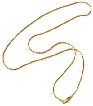 "Vintage 14k Gold Snake Chain Italy 20"" - Premier Estate Gallery 3"