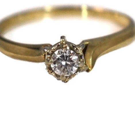 14k Diamond Ring Vintage Diamond Engagement - Premier Estate Gallery 2