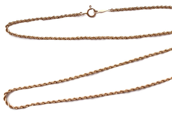 Vintage 14k Gold Rope Chain 18 Inch 4.1g - Premier Estate Gallery 2