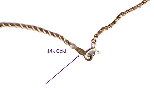 Vintage 14k Gold Rope Chain 18 Inch 4.1g