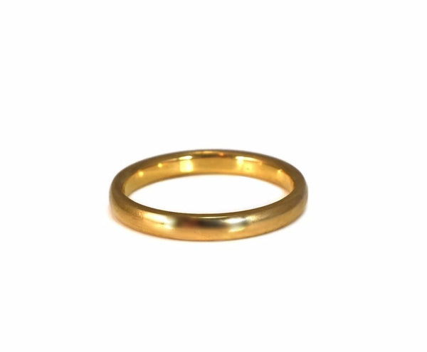 Deco Era 18k Gold Wedding Band 2.5mm Yellow Gold c1920 - Premier Estate Gallery 2