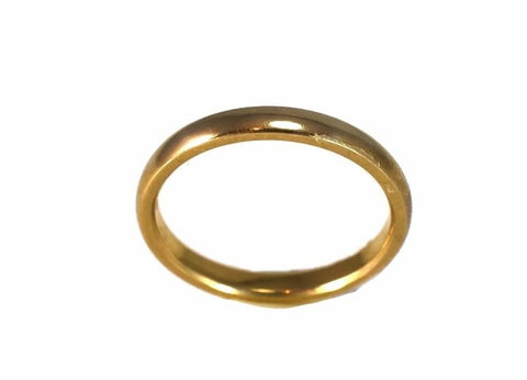 Deco Era 18k Gold Wedding Band 2.5mm Yellow Gold c1920 - Premier Estate Gallery 1