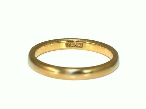 Deco Era 18k Gold Wedding Band 2.5mm Yellow Gold c1920 - Premier Estate Gallery 3