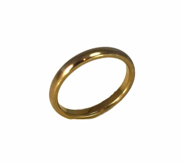 Deco Era 18k Gold Wedding Band 2.5mm Yellow Gold c1920 - Premier Estate Gallery 4
