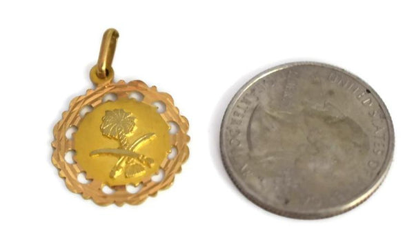 Vintage 18k Saudia Arabia Coat of Arms Pendant, Solid 18k Gold Saudi Charm Vintage - Premier Estate Gallery 3