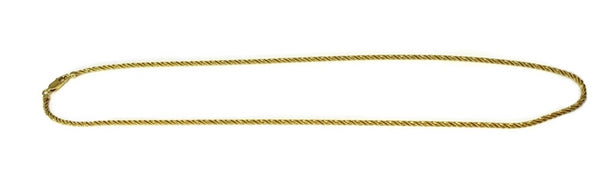 Shimmering 14k Gold Rope Necklace Chain 18 inch - Premier Estate Gallery 2