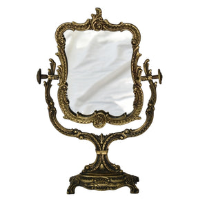Vintage Art Nouveau Style Ornate Gilded Iron Vanity Mirror French  - Premier Estate Gallery