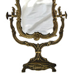 Vintage Art Nouveau Style Ornate Gilded Iron Vanity Mirror French  - Premier Estate Gallery  2